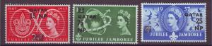 J20872 Jlstamps 1957 qatar set mnh #16-8 ovpt,s