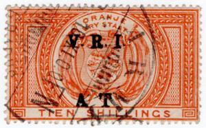 (I.B) Orange River Colony Army Telegraphs : 10/- Orange (Bloemfontain)
