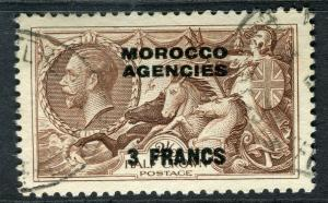 MOROCCO AGENCIES; 1914-30s early GV Seahorses issue fine used 2s. 6d. value