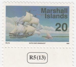 Marshall Islands, Sc # 445, MNH, 1993-95, Ship