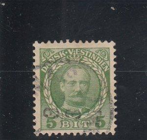 Danish West Indies  Scott#  43  Used  (1908 Frederik VIII)