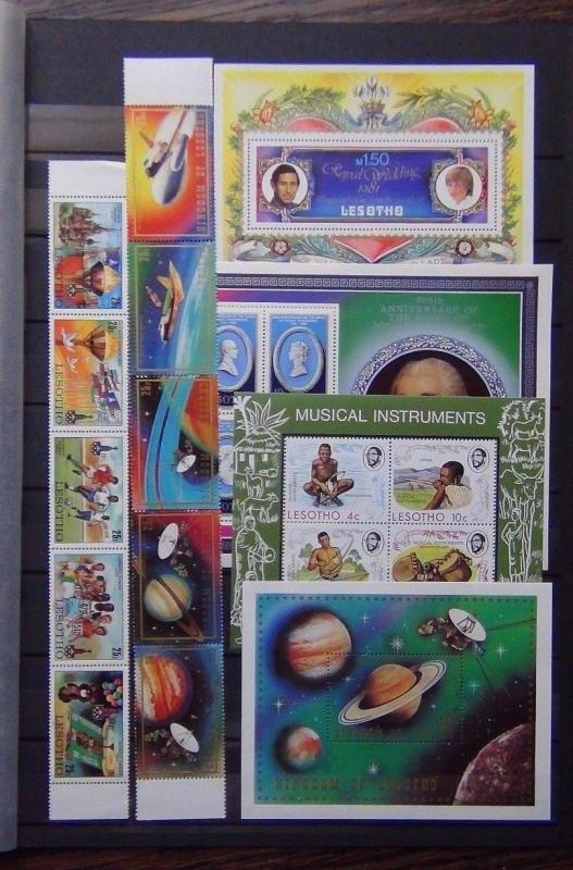 Lesotho 1974 Music M/S 1980 Olympics set  Pottery M/S 1981 Space set M/S MNH