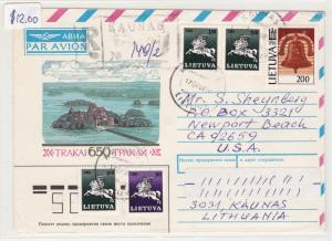 lithuania air mail stamps cover    ref r16073