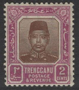 MALAYA TRENGGANU SG2 1915 2c BROWN & PURPLE MTD MINT