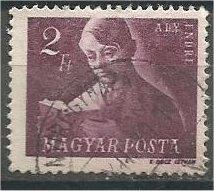 HUNGARY, 1947, used 2p, Andreas Ady, Scott 824