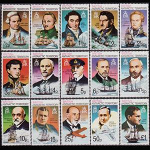 BR.A.T. 1973 - Scott# 45a-59a Famous Persons Set of 15 NH