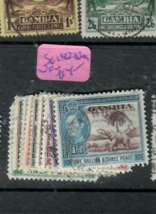 GAMBIA (P1412B)  KGVI ELEPHANTS TO 1/3    SG 150-156A     VFU