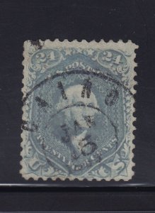 70b Steel Blue VF neat light cancel Weiss cert nice color cv $ 975 ! see pic !