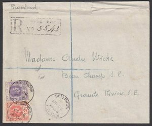 MAURITIUS 1939 Registered cover ROSE HILL to Grand Riviere.................H905