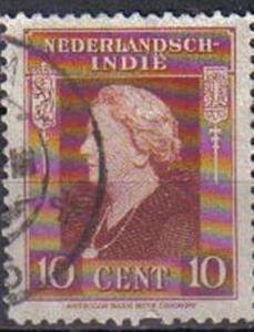 NEDERLANDSCH-INDIE, 1945, used 10c. Queen Wilhelmina