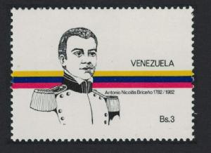 Venezuela Birth Bicentenary of Antonio Nicolas Briceno liberation hero 1v
