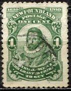Newfoundland; 1910: Sc. # 87a: O/Used Single Stamp