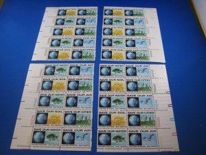 UNITED STATES 1970 - SCOTT #1410-1413 MATCHED PB SET  MNH