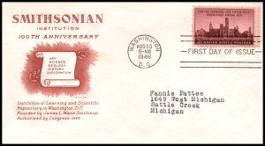 US 943 Smithsonian Grimsland Typed FDC