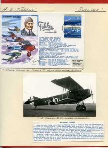 HASP4 Anthony Fokker Signed by Designer Tony Theobald