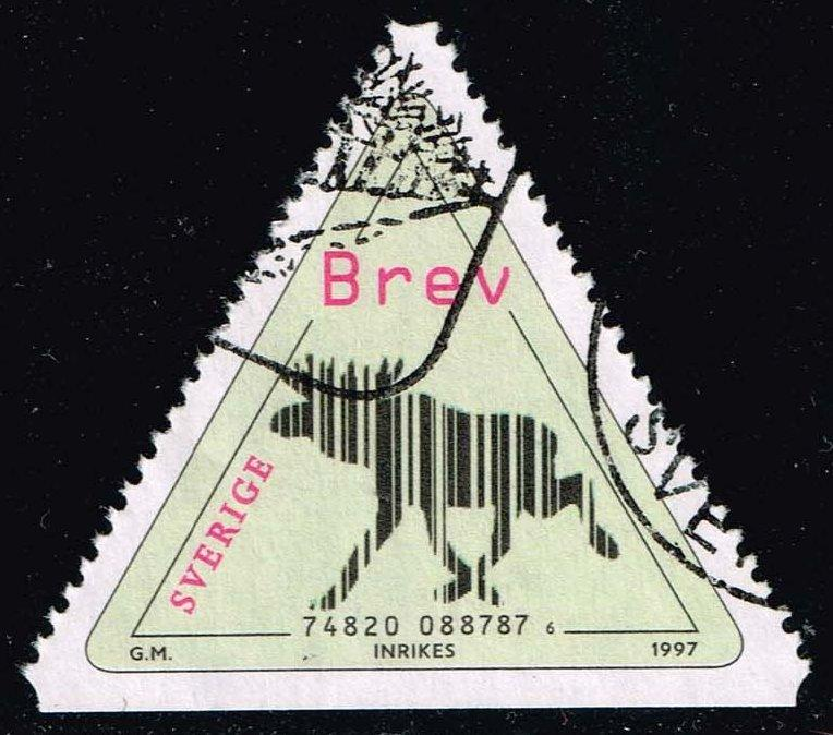 Sweden #2241 Bar Code Elk; Used (1.00)