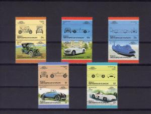 Bequia Grenadines St.Vincent Cars Low set 5 Pairs mnh