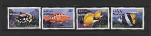 FISH - MALDIVES #2738-41  MNH