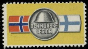 NORWAY WWII Legion Stamp, og, NH