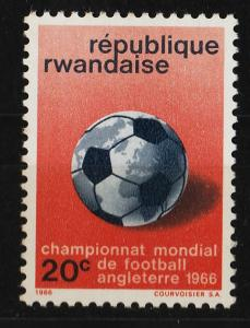 Rwanda 1966 world Football Championship 20c (1/6) UNUSED
