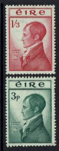 Ireland SG# 156 and 157, Mint Hinged, small Hinge Remnant -  Lot 112916