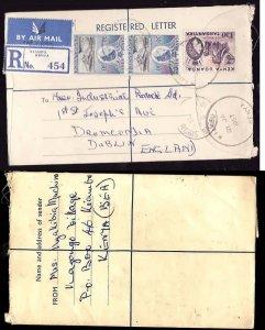 Kenya registered letter to Ireland - Kiambu , Kenya - 21 Ja 1957- registration l
