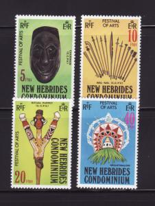 New Hebrides, British 268-271 Set MNH Arts Festival