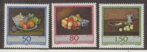 Liechtenstein Scott #942-943-944 Stamps - Mint NH Set