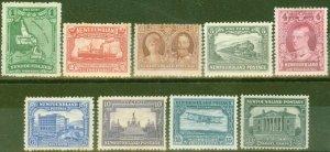 Newfoundland 1929 Re-Engraved set of 9 SG179-187 Fine Mtd Mint