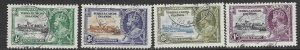 Turks & Caicos  71-74    1935  set  4  fvf used