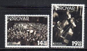 Faroe Islands Sc 619-20 2014  Europa, Music, stamp set mint NH