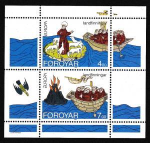 Faroe Is. Europa St Brendan's Voyage MS SG#MS255 MI#Block 7