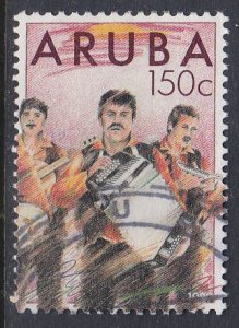 Aruba #48 F-VF Used Band members, musical instruments