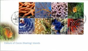 COCOS ISLAND SET OF 3 FDC  #360a-t BIN $10.00