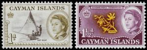 Cayman Islands Scott 154-155 (1962) Mint H F-VF M