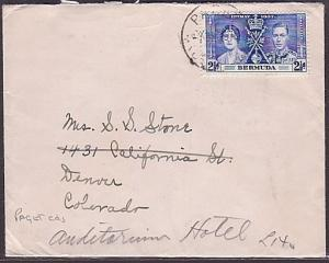BERMUDA 1937 commercial cover to USA Coronation 2½d, PAGET cds......35346