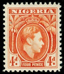 NIGERIA SG54, 4d orange, VLH MINT. Cat £50.