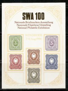 South West Africa 1984 Windhoek Show s.s. MNH