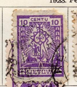 Lithuania 1923 Early Issue Fine Used 10c.