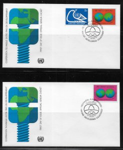 United Nations 302-3 Technical Cooperation Geneva Cachet FDC First Day Cover