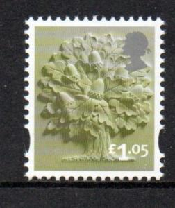Great Britain England Sc 32 2016 £1.05 Oak Tree  stamp mint NH