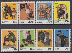 Zaire 1005-1012 Norman Rockwell MNH VF