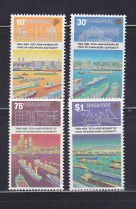 Singapore 537-540 Set MNH Ships (A)