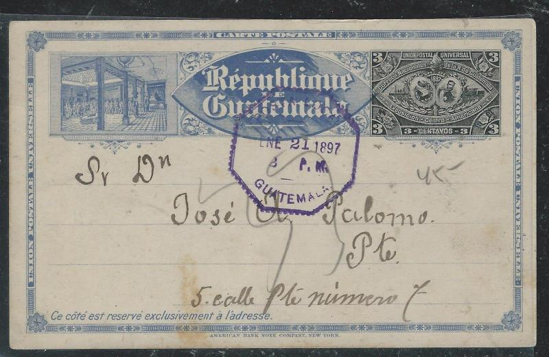 HAITI  (PP2706B) 1900 3C PSC GONAIVES TO GERMANY
