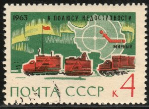 RUSSIA 2780, TRUCKS, MAP OF ANTARTICA. USED, CTO. VF. (396)
