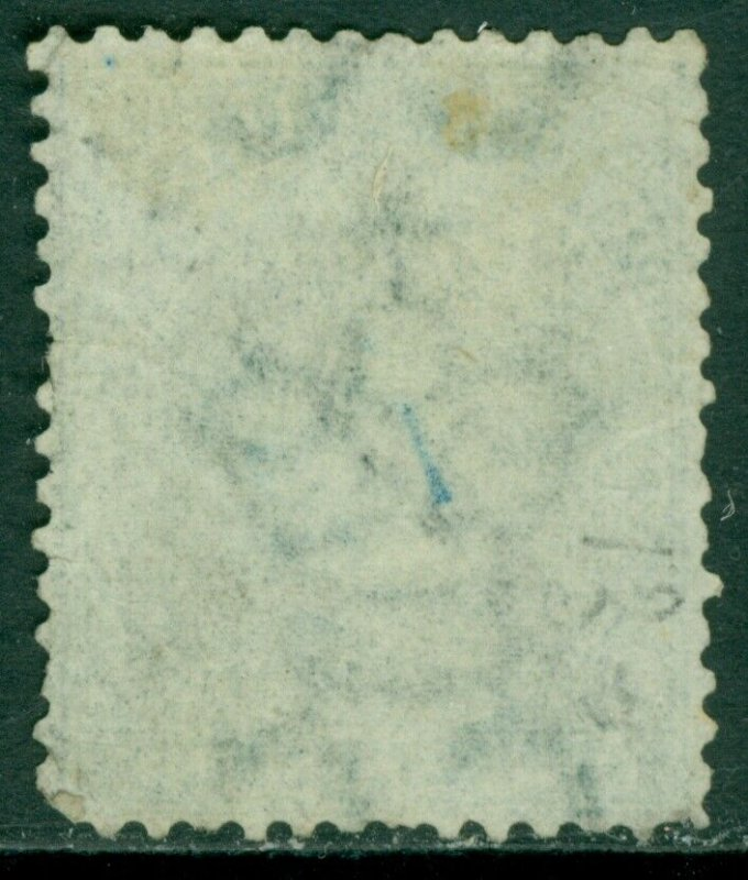 EDW1949SELL : BERMUDA 1874 Scott #10 Very Fine, Used. Scarce stamp. Catalog $950