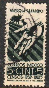 MEXICO 752, 5¢ Census, 1940. Used. F-VF. (324)