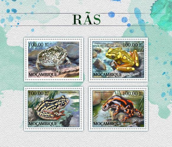 MOZAMBIQUE - 2016 - Frogs - Perf 4v Sheet - MNH
