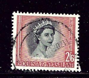 Rhodesia and Nyasaland 152 Used 1954 QEII
