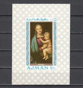 Ajman, Mi cat. 332, BL66. Religious Art s/sheet.